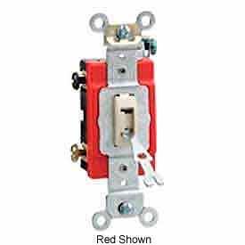 Leviton 1221-2l 20a, 120/277v, Locking Single-Pole Ac Quiet Switch, Brown - Min Qty 11