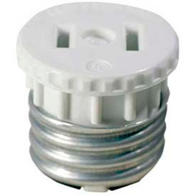 Leviton 125 15 Amp, 660 Watt, 125 Volt, 2-Pole, 2-Wire, Lampholder To Outlet