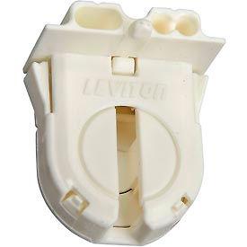 Leviton 23652-WP Fluorescent Lampholder, Med Bi-Pin, with Internal Shunt