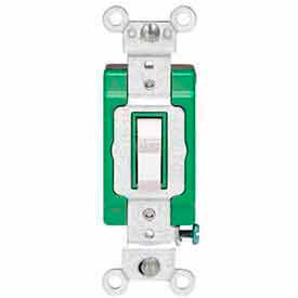 Leviton 3032-2w Double-Pole Ac Quiet Switch, 30 Amp 120/277 V, White - Min Qty 8