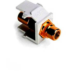 Leviton 40830-BWY QuickPort Rca, Gold-Plated Connector with Yellow Stripe