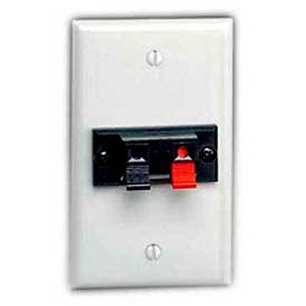 Leviton 40951-1pw 1-Gang Single Spring Clip Device Audio/Video Wallplate, White - Min Qty 14