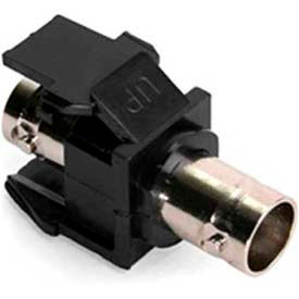 Leviton 41084-Bef Banc Quickport Adapter, Nickel-Plated, Color Black - Min Qty 23