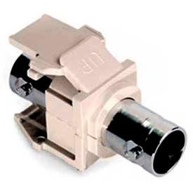 Leviton 41084-Btf Bnc Quickport Adapter, Nickel-Plated White, Light Almond - Min Qty 23