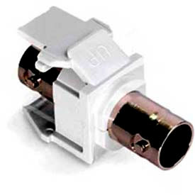 Leviton 41084-Bwf Banc Quickport Adapter, Nickel-Plated, Color White - Min Qty 23