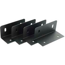 Leviton 47602-Bke Media Versatile Panel Mounting Brackets, Set Of 4, Black - Min Qty 8