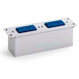 Leviton 47605-0dp Double Duplex Ac Power Module With Surge Protection, White - Min Qty 2