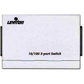 Leviton 47611-5pt 10/100 5-Port Switch, White - Min Qty 2