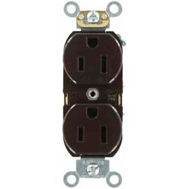 Leviton 5262-IGB 15A, 125V, Duplex Receptacle, Isolated Ground, Brown
