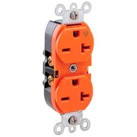 Leviton 5462-Ig 20a, 250v, Duplex Receptacle, Isolated Ground, Orange - Min Qty 11