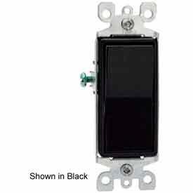 Leviton 5603-2GY 15A, 120/277V, Decora Rocker 3-Way AC Quiet Switch, Gray