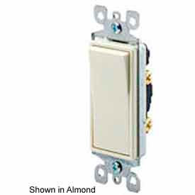 Leviton 5611-2t 15a, 120/277v, Decora Rkr, Illum. Off, 1-Pole Ac Quiet Switch, Lt. Almond-Min Qty 19