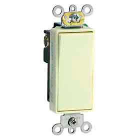 Leviton 5691-2T 15A, 120/277V, Decora Plus Rocker Single-Pole AC Quiet Switch, Light Almond
