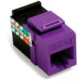 Leviton 5G108-RP5 GigaMax 5E QuickPort Connector, Cat 5E, Purple