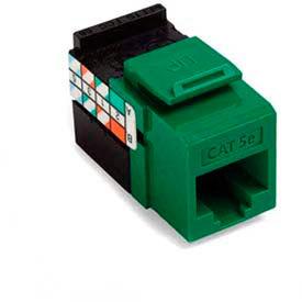 Leviton 5G108-RV5 GigaMax 5E QuickPort Connector, Cat 5E, Green