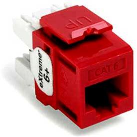Leviton 61110-Rc6 Extreme 6+ Quickport Connector, Cat 6, Crimson - Min Qty 13