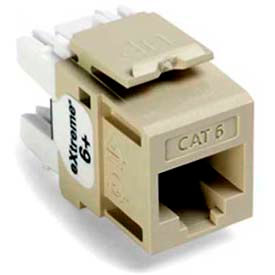 Leviton 61110-Ri6 Extreme 6+ Quickport Connector, Cat 6, Ivory - Min Qty 13