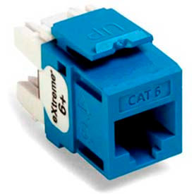 Leviton 61110-Rl6 Extreme 6+ Quickport Connector, Cat 6, Blue - Min Qty 13