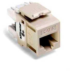 Leviton 61110-Rt6 Extreme 6+ Quickport Connector, Cat 6, Light Almond - Min Qty 13