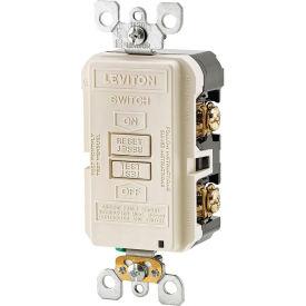 Leviton GFRBF-T SmartlockPro, Blank Face w/Indicator Light, 20A, Self Testing, Light Almond