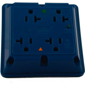 Leviton 8490-Igb 20a 4-In-1 Surge Receptacle W/ Indicator Lht, Iso Ground, Blue - Min Qty 3