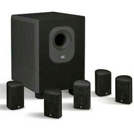 Leviton AEH50-BL JBL 5-Channel Surround Sound Home Cinema Speaker System, Black