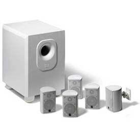 Leviton AEH50-WH JBL 5-Channel Surround Sound Home Cinema Speaker System, White