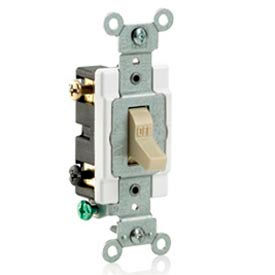 Leviton CS215-2GY 15A, 120/277V,  Double-Pole, Grounding, Gray