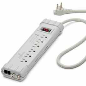 Leviton S1000-Ptc Surge Strip, 6 Oulet, 6-Ft Cord, 5-15p Right Angle Plug - Min Qty 7