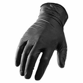 Ni-Flex GNX-1K Industrial Grade Disposable Nitrile Gloves, Powder-Free, Black, Medium, 100/Box