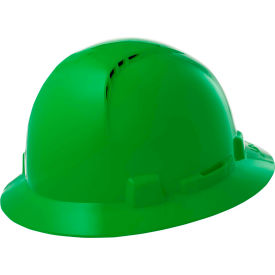 Lift Safety HBFC-7G Briggs 4-Point Suspension Vented Hardhat, Green by