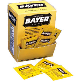 Bayer® Aspirin, 2 Tablets/Pack, 50 Packs/Box