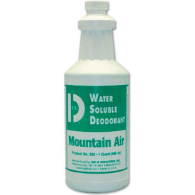 Big D Industries Water-Soluble Deodorant Mountain Air Scent, 32 Oz. Bottle 12/Case - BGD358