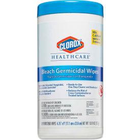 "Clorox® Healthcare Bleach Germicidal Wipes 6-3/4"" X 9"", White 70 Wipes/Can 6/Case - COX35309CT"
