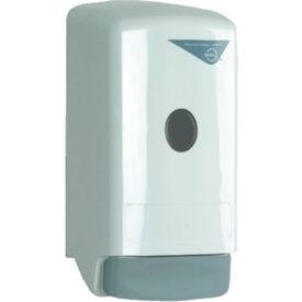 """Dial Liquid Soap Dispenser Model 22 5-1/4"""" x 4-1/4"""" x 10-1/4"""", White 800mL Refill - DPR03226"""