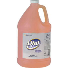 Dial Body & Hair Shampoo Gender Neutral Peach Scent, Gallon Bottle 4/Case - DPR03986