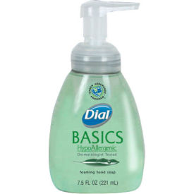 Dial Basics Hypoallergenic Foaming Lotion Soap Honeysuckle, 7.5 Oz. Pump 8/Case - DPR06042CT