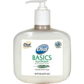 Dial Basics Hypoallergenic Liquid Soap Rosemary & Mint, 16 Oz. Pump 12/Case - DPR06044