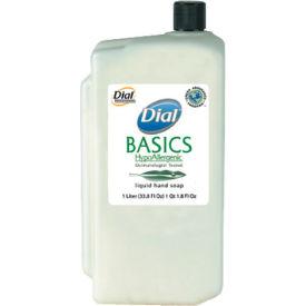 Dial Basics Hypoallergenic Liquid Soap Refill Rosemary & Mint, 1000mL Bottle 8/Case - DPR06046