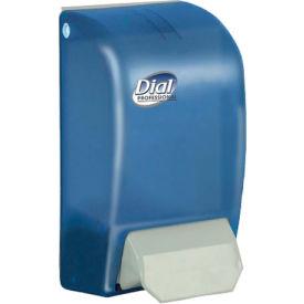 "Dial Foaming Hand Soap Dispenser 5"" x 4-1/2"" x 9"", Translucent Blue 1000mL Refill - DPR06056"