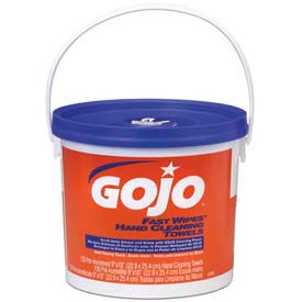 Gojo Fast Wipes Hand Cleaning Towels, 130 Wipes/Bucket 4/Case - GOJ6298