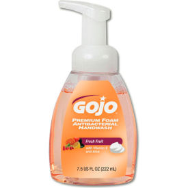 Gojo® Premium Foam Antibacterial Handwash Soap Fresh Fruit, 7.5 Oz. Pump 6/Case - GOJ571006CT