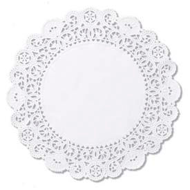 "Hoffmaster HFM 500239 - Cambridge Lace Doilies, Round, 12"", White, 1000 ct"