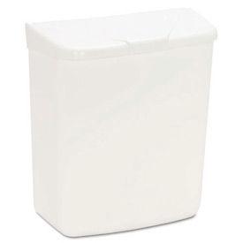Health Gards Plastic Convertible Sanitary Napkin Receptacle, White 1 Gallon - HOS250201W