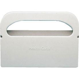"""Hospeco 1/2 Fold Plastic Toilet Seat Cover Dispenser 16"""" x 3-1/4"""" x 11-1/2"""", White - HOSHG12"""