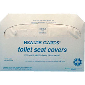 Health Gards Toilet Seat Covers, White 250 Covers/Pack 20/Case - HOSHG5000CT
