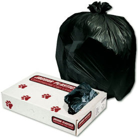 "10 Gallon Light Grade Trash Liners 24"" x 23"" 0.35 Mil., Black 500/Pack - JAGL2423L"