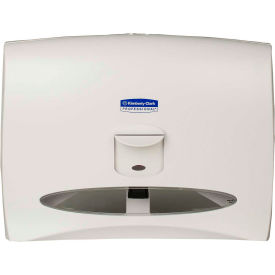 Boardwalk Push-Lever Personal Toilet Seat Cover Dispenser, White Holds 125 Covers - KIM09505