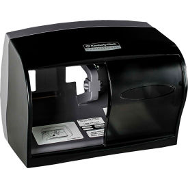 "Coreless Double Roll Tissue Dispenser For 5"" Rolls 11-1/10"" x 6"" x 7-5/8"", Smoke - KIM09604"