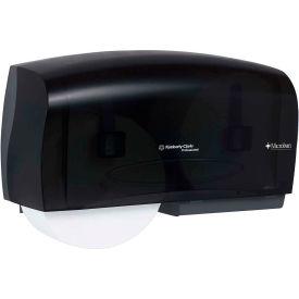 "In-Sight Coreless Twin Jumbo Roll Tissue Dispenser 20"" x 6"" x 11"", Smoke/Gray - KIM09608"